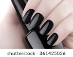 very beautiful black nails... | Shutterstock . vector #361425026