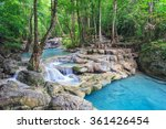 erawan waterfall  tropical... | Shutterstock . vector #361426454