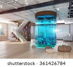 the modern loft interior with...   Shutterstock . vector #361426784