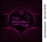 happy valentines day pink... | Shutterstock .eps vector #361427609