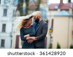 happy couple in love with each... | Shutterstock . vector #361428920