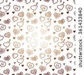happy valentine's day white... | Shutterstock .eps vector #361433840