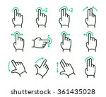 vector touch screen gestures... | Shutterstock .eps vector #361435028