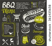 bbq party. vector illustration... | Shutterstock .eps vector #361435658