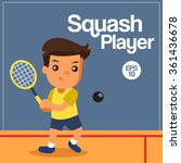 sport player  squash player