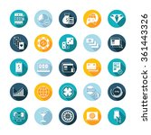 vector set square flat icons... | Shutterstock .eps vector #361443326