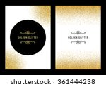 vector banners and cards gold... | Shutterstock .eps vector #361444238
