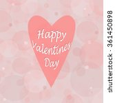 vector pink heart on the pink... | Shutterstock .eps vector #361450898