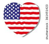 flag of  heart america  logo ... | Shutterstock .eps vector #361451423