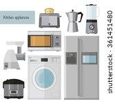 set of kitchen appliances flat... | Shutterstock .eps vector #361451480