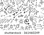 hand drawn doodle seamless... | Shutterstock .eps vector #361460249