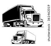american trailer truck isolated ...   Shutterstock .eps vector #361462019