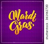 mardi gras carnival calligraphy ... | Shutterstock .eps vector #361462730