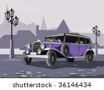 Purple Retro Car