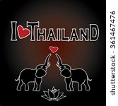 i love thailand . set thai ... | Shutterstock .eps vector #361467476
