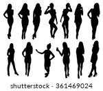 woman silhouettes | Shutterstock .eps vector #361469024