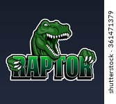 raptor mascot | Shutterstock .eps vector #361471379