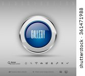 blue and gray glossy button...
