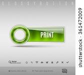 green modern plastic button... | Shutterstock .eps vector #361472009