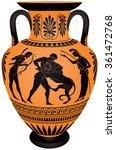 amphora hercules first labor ... | Shutterstock .eps vector #361472768