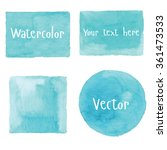 watercolor set of objects.... | Shutterstock .eps vector #361473533