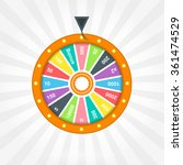 poster with wheel of fortune | Shutterstock .eps vector #361474529