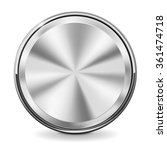 steel round button with chrome... | Shutterstock .eps vector #361474718