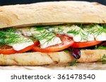 vegetarian ciabatta  sandwich...