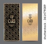set of vertical gold cards with ...   Shutterstock .eps vector #361479089