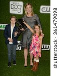 Small photo of LOS ANGELES - JAN 9: Alison Sweeney, children at the The CW World Dog Awards at the Barker Hanger on January 9, 2016 in Santa Monica, CA