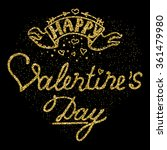 vector calligraphy. hand drawn... | Shutterstock .eps vector #361479980