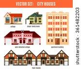 modern flat vector buildings...   Shutterstock .eps vector #361482203