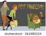 shocked couple caught a giant... | Shutterstock .eps vector #361483124