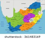 colorful south africa political ...   Shutterstock .eps vector #361483169