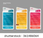 price list  hosting plans and... | Shutterstock .eps vector #361486064