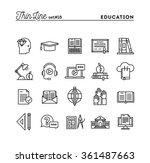 education  online books ... | Shutterstock .eps vector #361487663