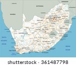 high detailed south africa road ... | Shutterstock .eps vector #361487798
