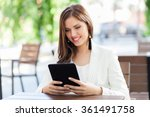 young business woman using a...   Shutterstock . vector #361491758
