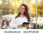 young business woman using a... | Shutterstock . vector #361491818