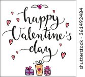 valentines day card with... | Shutterstock .eps vector #361492484