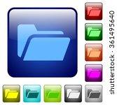 set of folder open color glass...