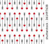 cupid's arrows seamless pattern.... | Shutterstock .eps vector #361497638