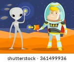 war on mars | Shutterstock .eps vector #361499936