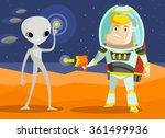 war on mars | Shutterstock .eps vector #361499936