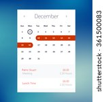 vector calendar ui element