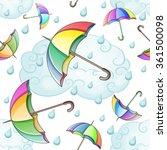 multicolored umbrella pattern... | Shutterstock .eps vector #361500098