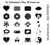 st. valentine's day 20 simple... | Shutterstock .eps vector #361500560