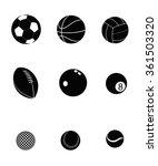 sport balls set on white...   Shutterstock .eps vector #361503320