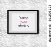 realistic photo frame isolated... | Shutterstock .eps vector #361505123
