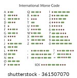 International Morse Code  Vector